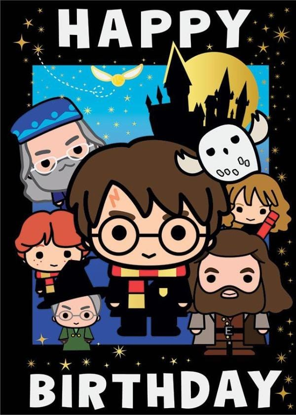 Harry Potter Chibi Foil Card