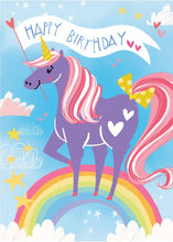 Load image into Gallery viewer, Unicorn Flocked Card