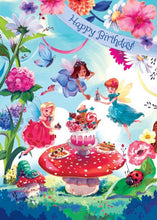Load image into Gallery viewer, Fairy Garden Party Glitter Card