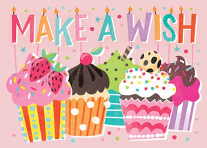 Make a Wish Cupcake Glitter Card