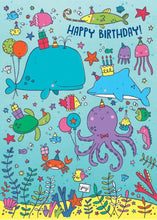 Load image into Gallery viewer, Ocean Life Glitter Card