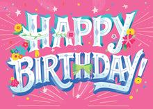 Load image into Gallery viewer, Happy Birthday Glitter Card