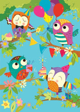 Load image into Gallery viewer, Cute Owls Glitter Card