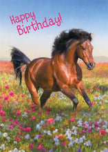 Load image into Gallery viewer, Horse Glitter Card