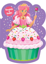 Load image into Gallery viewer, Strawberry Princess Cupcake Scratch & Sniff Card