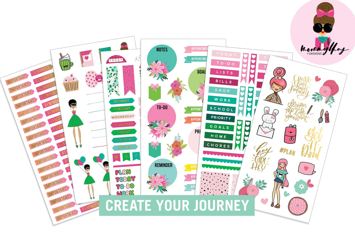 Mommy Lhey- Create Your Journey Sticker Kit
