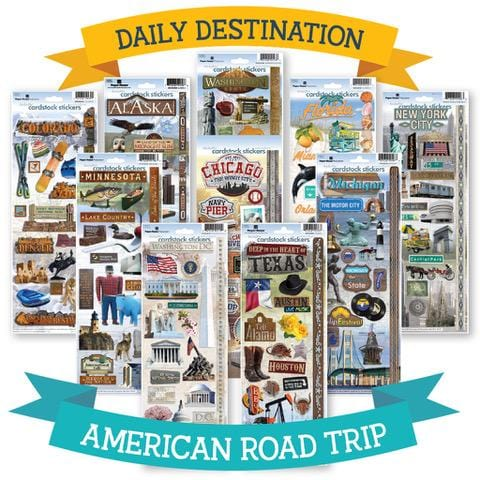 American Road Trip Sticker Bundle