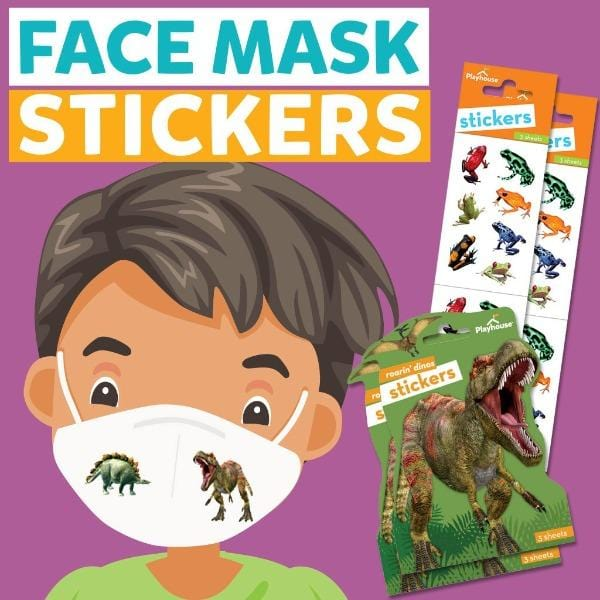 Face Mask Stickers- Dinosaurs