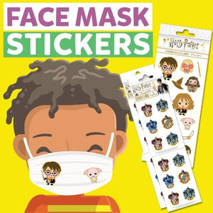face mask stickers- harry potter