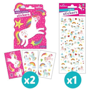face mask stickers- unicorns