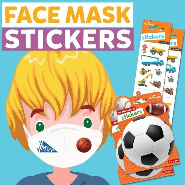 face mask stickers- sports