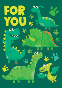dinosaur mini card
