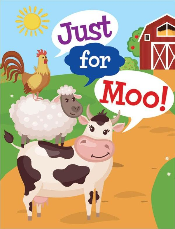 Farm Animals Mini Card