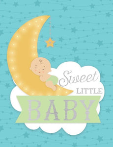 Baby Moon Foil Gift Enclosure