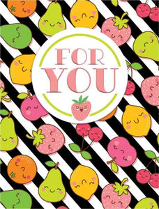 cutie fruitie glitter mini card