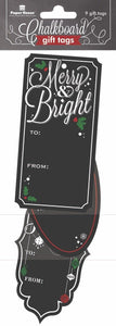 Merry & Bright Chalk Gift Tags