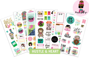 Mommy Lhey- Hustle and Heart Sticker Kit