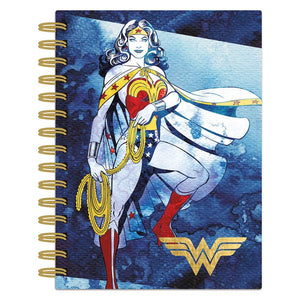 Wonder Woman Watercolor Spiral Journal