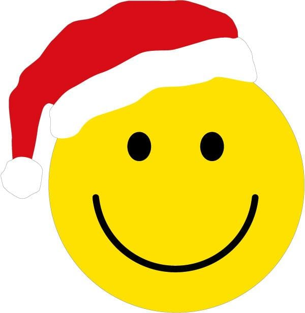 Smiley Face Christmas Magnet
