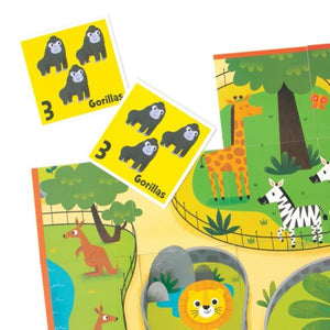 Zoo Animals- Learn Numbers- Match Up Game