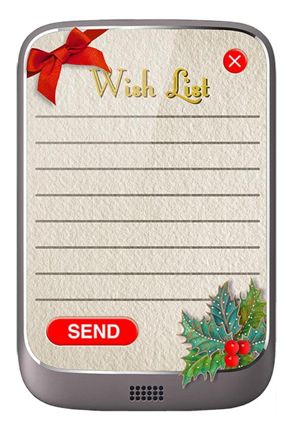 Wish List-Phone Tricky Notebook