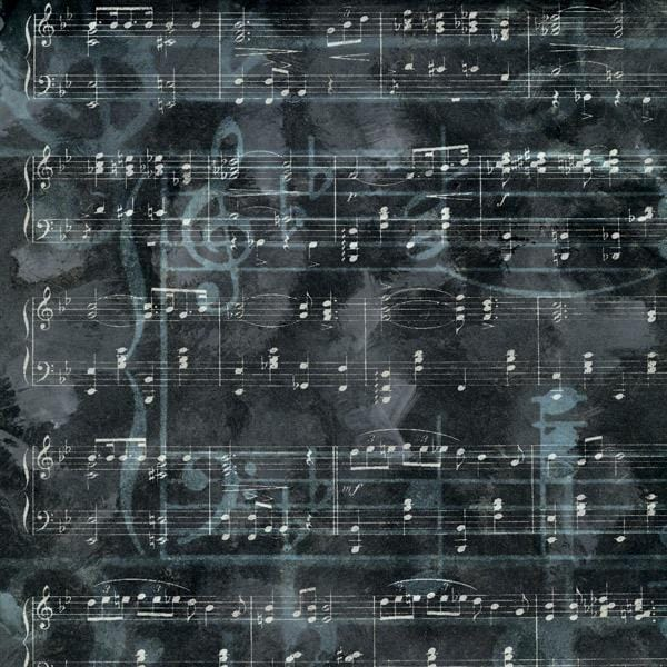 charcoal music single sided paper