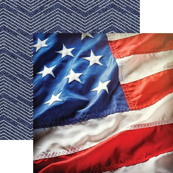 Stars and Stripes Double-Sided Paper