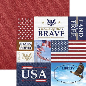 Home of the Brave Tags Double Sided Paper