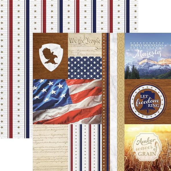 Let Freedom Ring Tags Double Sided Paper