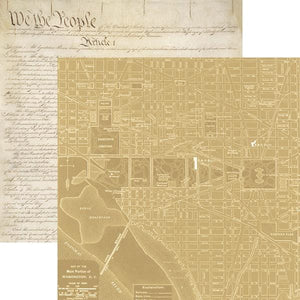 Washington DC Map Double Sided Paper