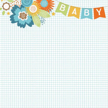 Load image into Gallery viewer, baby boy banner double sided paper