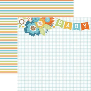 Baby Boy Banner Double Sided Paper