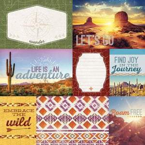 Southwest Adventure Tags Double Sided Paper
