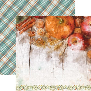 "Pumpkin Spice 12"" Double Sided Scrapbook Paper"