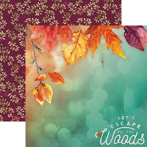 "autumn woods 12"" double sided scrapbook paper"