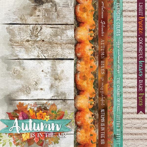 "autumn air 12"" double sided scrapbook paper"