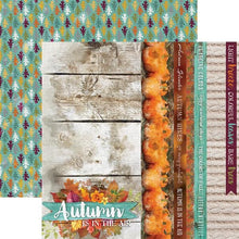 "Load image into Gallery viewer, autumn air 12"" double sided scrapbook paper"