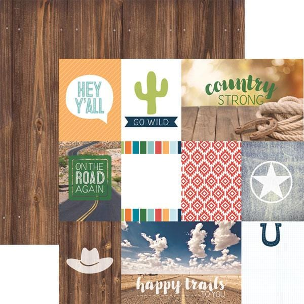 country strong tags double sided paper