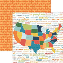 Load image into Gallery viewer, Discover USA Map Double Sided Paper