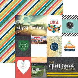 discover USA tags double sided paper