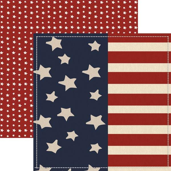 Homefront Girl - Wave the Flag Double Sided Paper