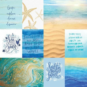 Coastal Waves Tags Double Sided Paper