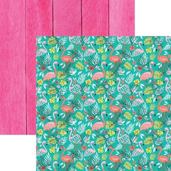 flamingo double sided paper