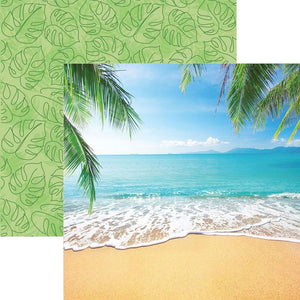 Tropical Beach Double Sided Paper