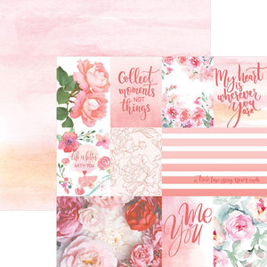 Rose Garden Tags Double Sided Paper