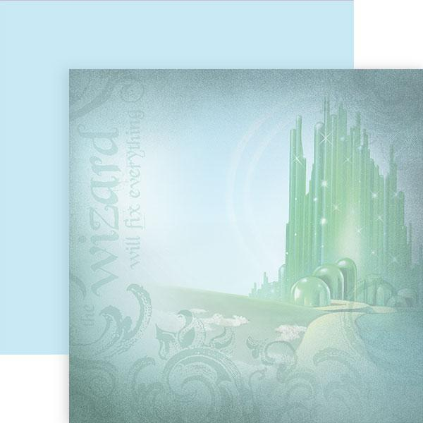 Wizard of Oz Emerald City Double Sided Paper