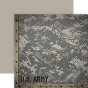 United States Army camo double sided paper
