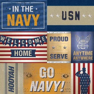 United States Navy Tags double sided paper
