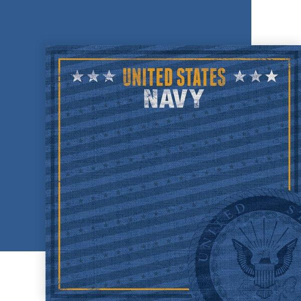 United States Navy Emblem double sided paper