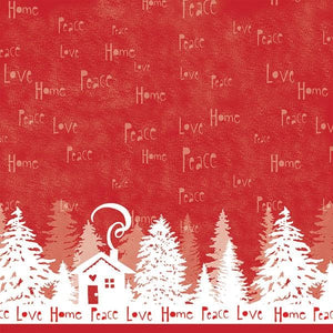 "Peace Love Home 12"" Double Sided Glitter Scrapbook Paper"